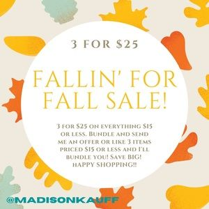 🍁 3 for $25 Fall SALE!! 🍁